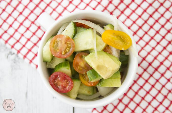 Tomato Cucumber Salad with Avocado